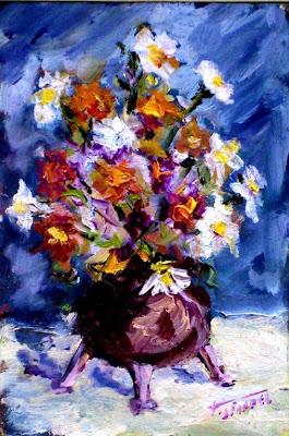Lavostraarte di carla colombo i galleria fiori ad olio for Fiori ad olio