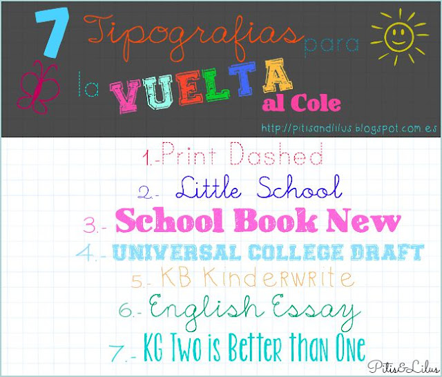 TIPOGRAFIAS VUELTA AL COLE BACK TO SCHOOL