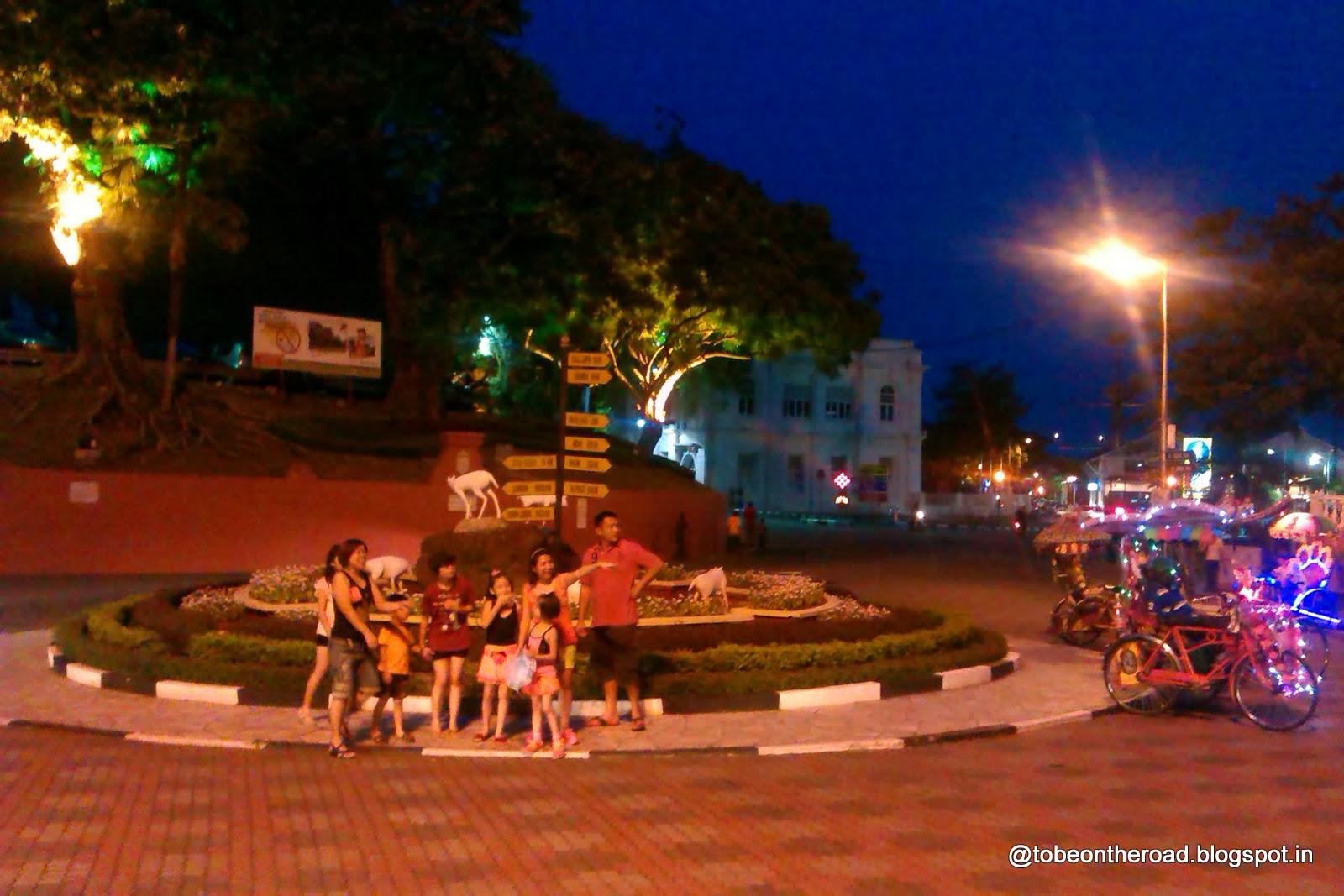 Central Square in Melaka City of Venice in Malaysia