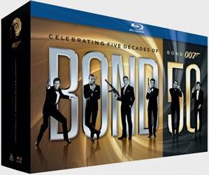 Bond 50 Coleção em Blu-Ray