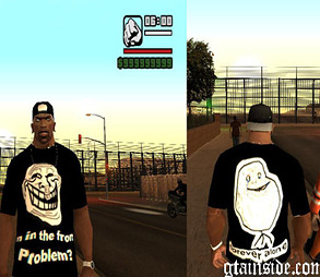 Skin Troll Face e Forever Alone GTA