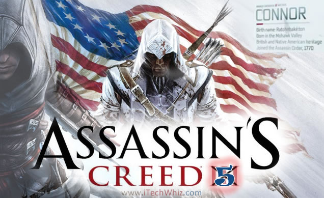 Assassin's Creed 5 2012 Trailer, Gameplay, Connor and Release Date