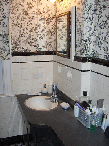 Bathroom wallpapers decoration for Bathroom mural wallpaper