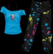 Stardoll Free Monster High T-shirt and Hip Hop Pants