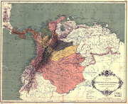 Antiguo mapa de Colombia y Venezuela (mapa colombia )
