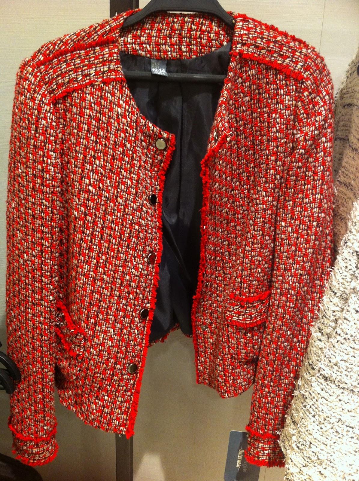 Veste blazer femme rouge zara