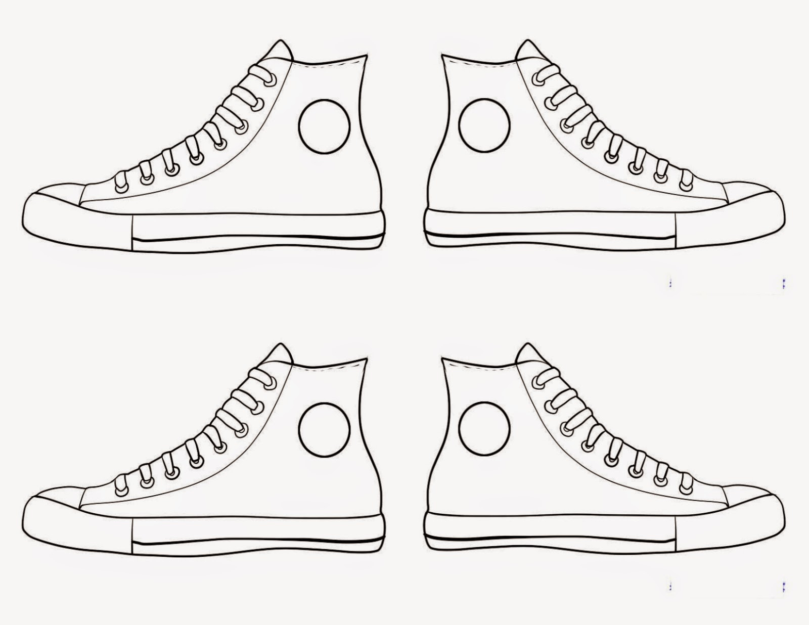 Amazing image throughout sneaker template printable