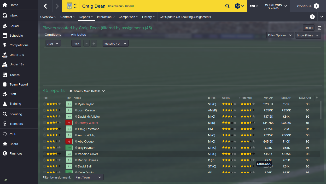 football manager 2015 scouting