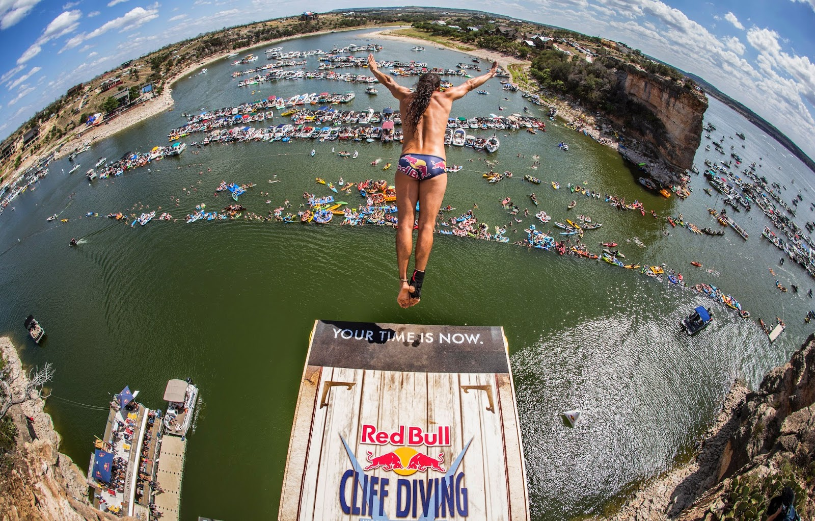 Red Bull Cliff Diving World Series at Hell's Gate at Possum Kingdom Lake in May 2015