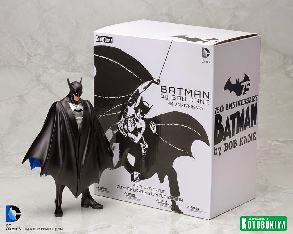 "San Diego Comic-Con 2014 Exclusive ""First Appearance"" Batman ARTFX+ Statue & Packaging by Kotobukiya"