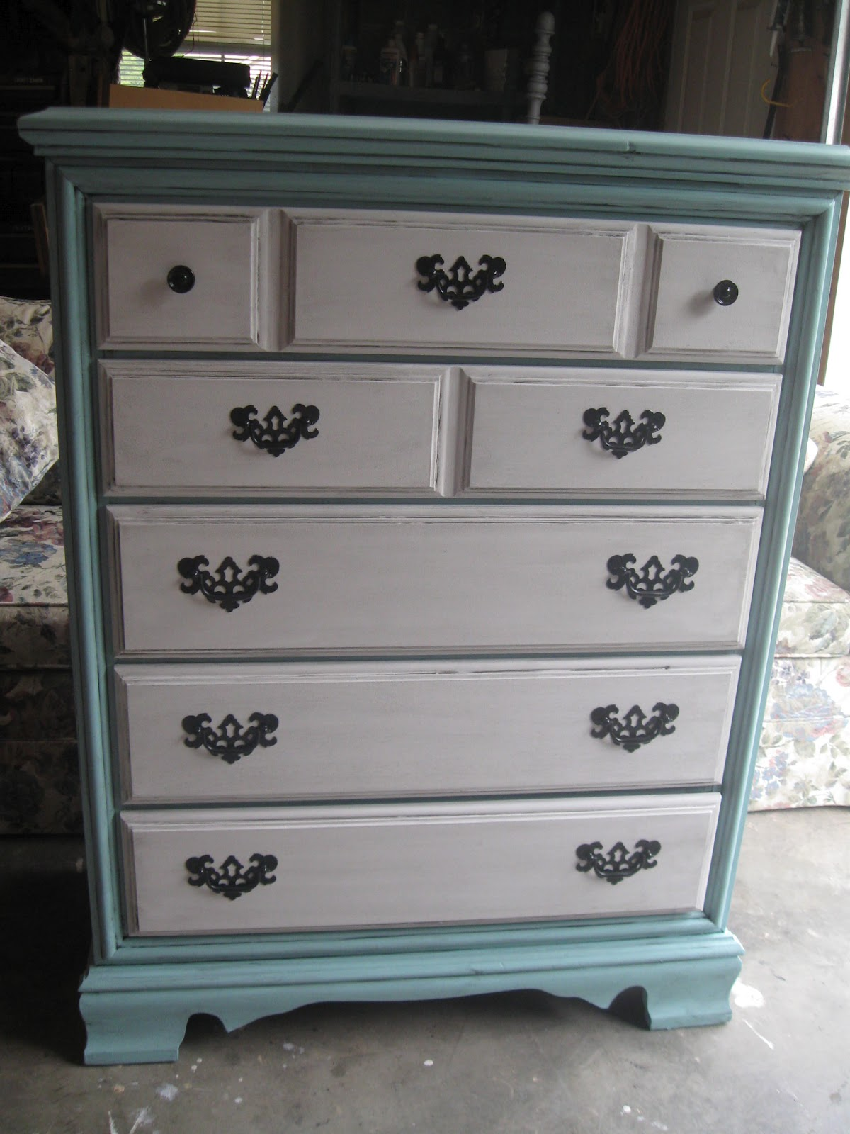 that 39 s not junk refurbished recycled furniture shabby chic distressed turquoise white dresser. Black Bedroom Furniture Sets. Home Design Ideas