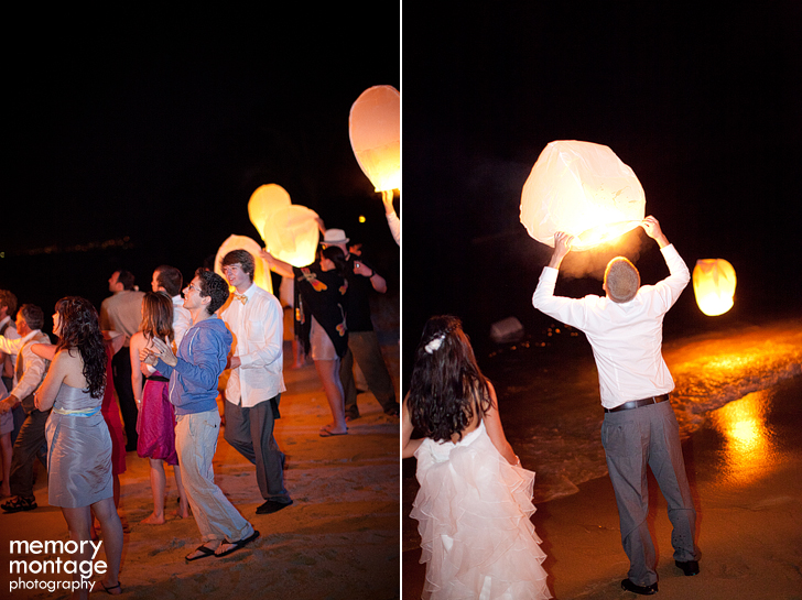 wedding reception wish lantern