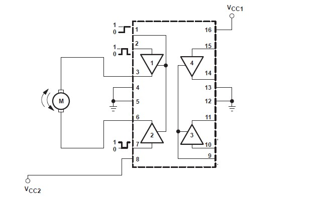 L293d Dual H Bridge Motor Driver Datasheet besides T432800 0 moreover Tutorialesdeelectronica blogspot together with 251946372121 in addition Current Split On Sn754410 Chip And Electromag s. on lm293d