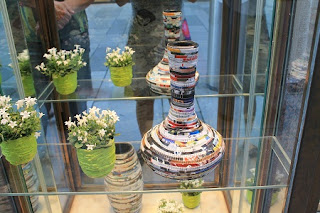 Floreros Reciclados con Papel de Diario, Ideas para Reciclar