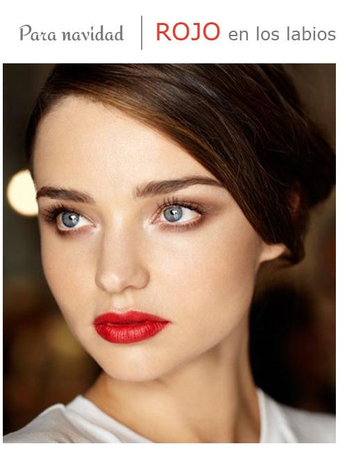 maquillaje labios rojo