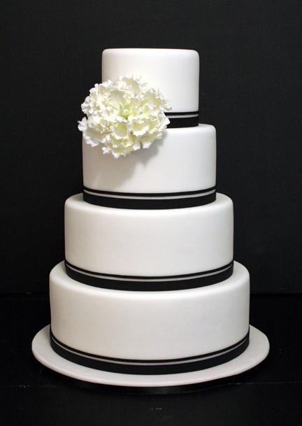 Cake Art White Chocolate Fondant : Mark Joseph Cakes: White Fondant. Black Trim. A Single ...