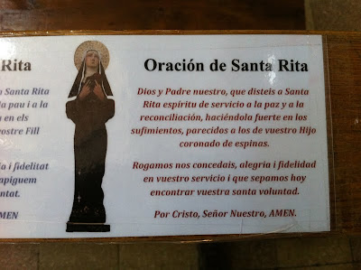 Saint Rita's Prayer - Barcelona Sights Blog