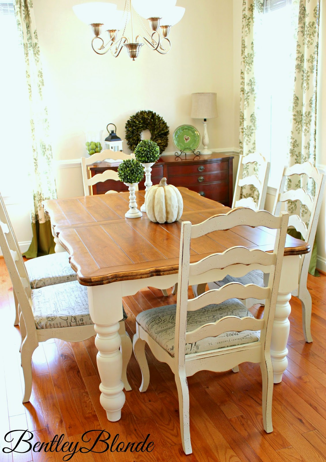 bentleyblonde: diy farmhouse table & dining set makeover with