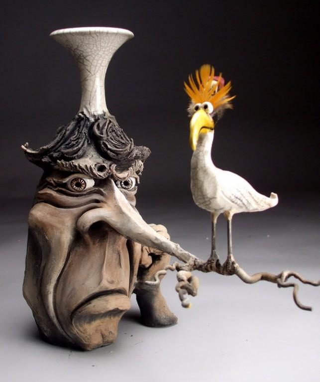 Esculturas de Cerâmica de Mitchell Grafton