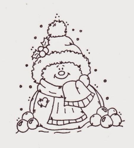 Lindas Imágenes de Muñecos de Nieve para Colorear. | Ideas y ...