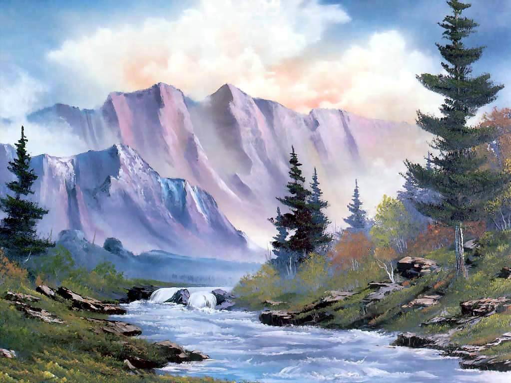 Free download wallpaper hd painting nature 3d nature - Nature ke wallpaper ...