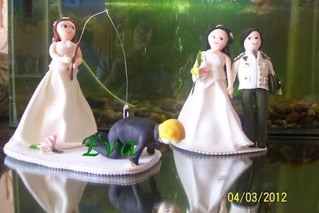 Dos modelos de figuras para torta