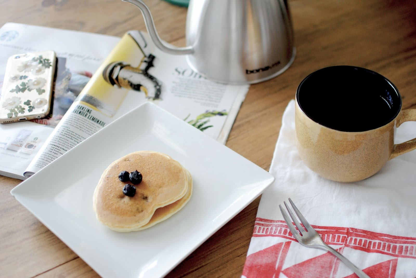 starbucks, new, coffee, review, kettle, mugs, pancakes, lemon, blueberry, recipe