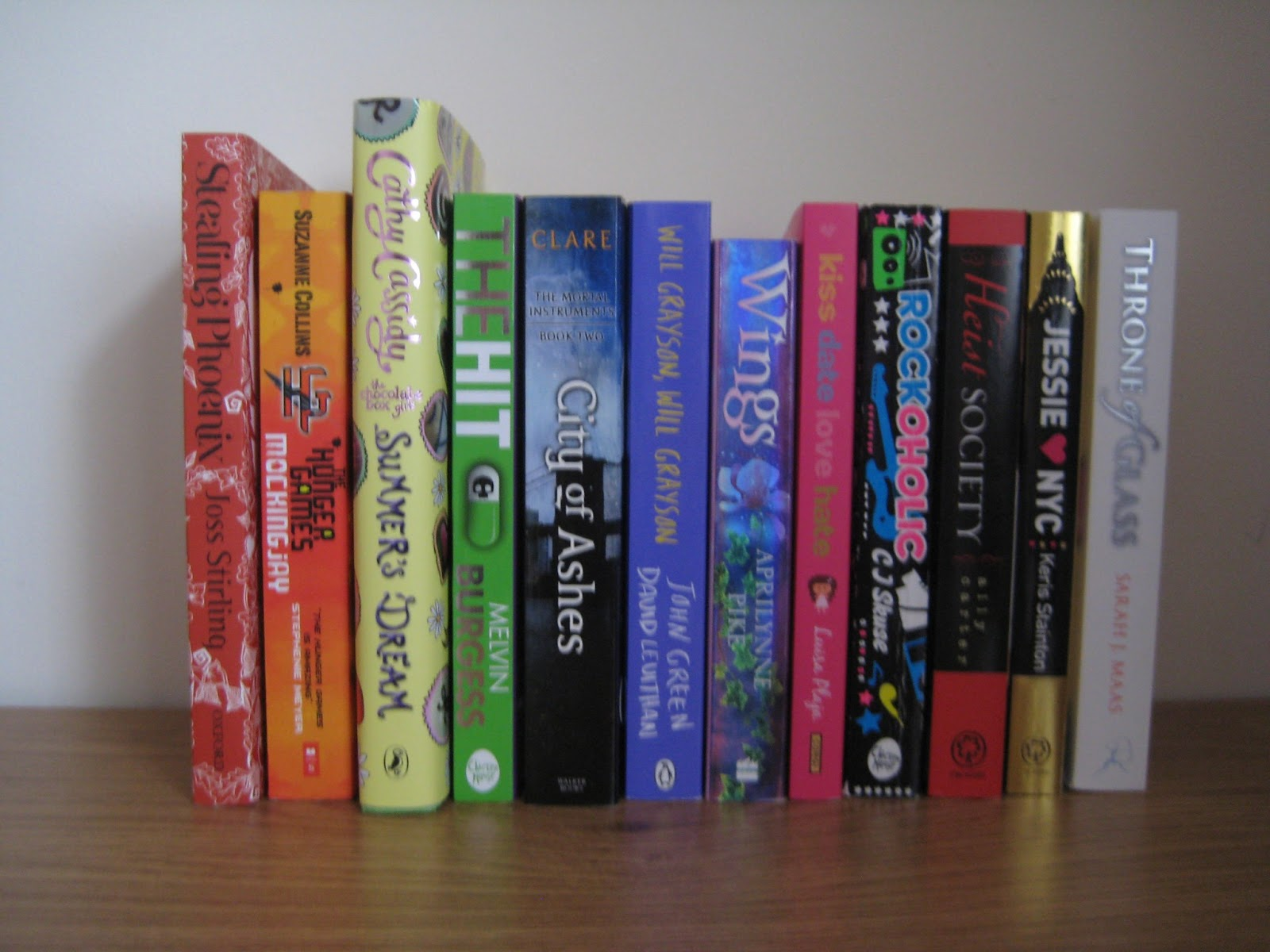 rainbow spines book tag queen of contemporary