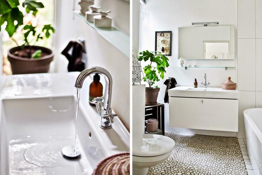 wystrój wnętrz, wnętrza, urządzanie mieszkania, dom, home decor, dekoracje, aranżacje, mieszanka stylów, białe wnętrza, otwarta przestrzeń, łazienka