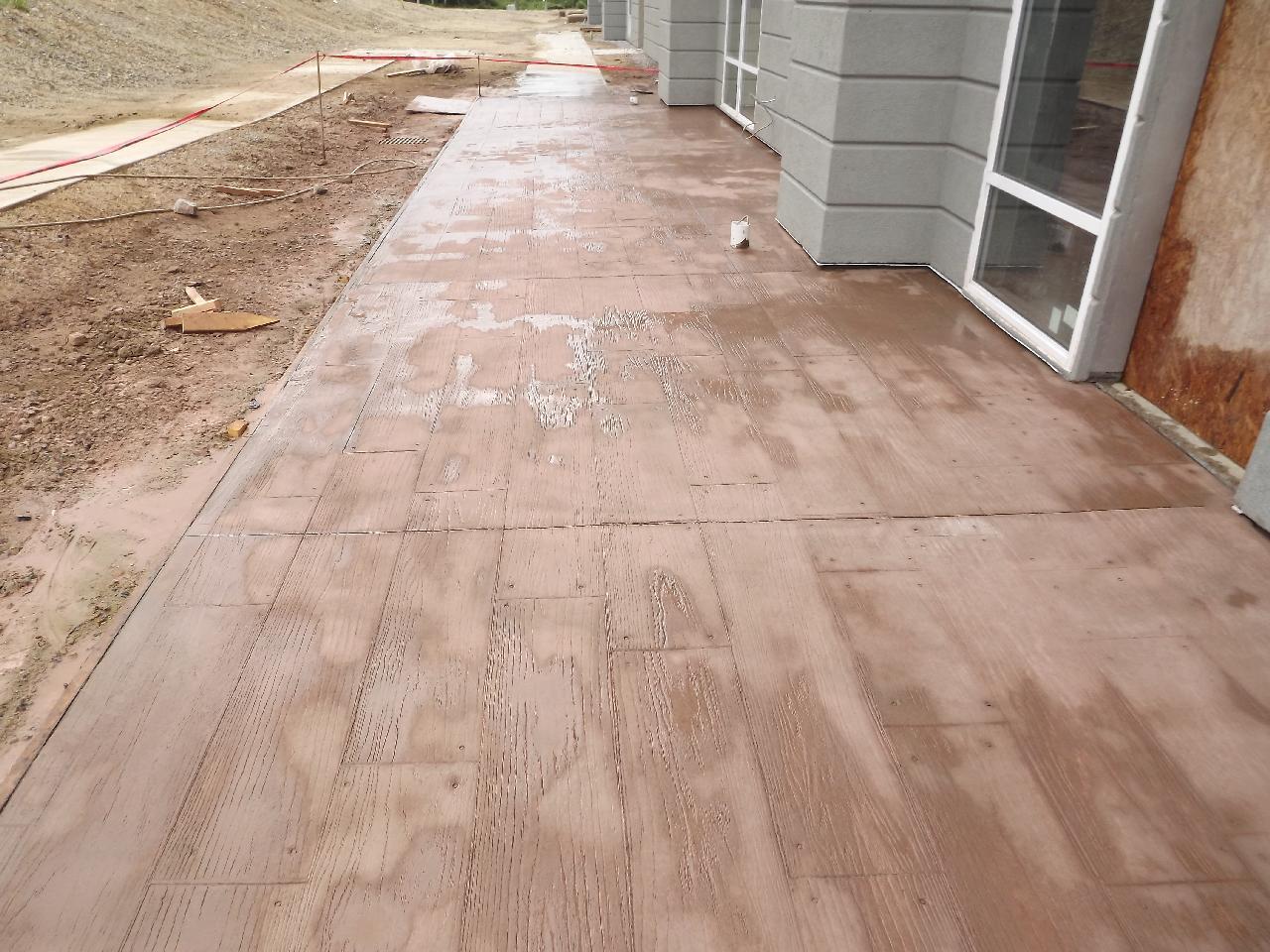 Wood Plank Stamped Concrete : Atlantic coast concrete hampton inn greensboro wood plank