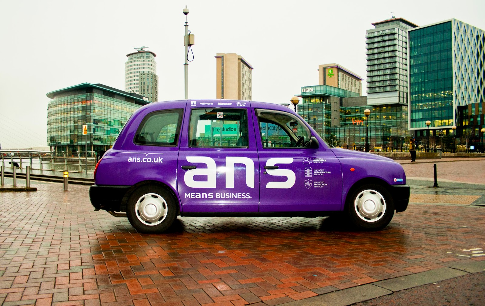 Transport Media at MeditaCity UKANS Full Livery Taxi Campaign