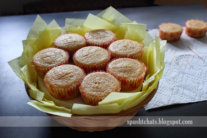 How To Make Flower Basket Cupcakes : Spusht chats cupcake flower basket bouquet
