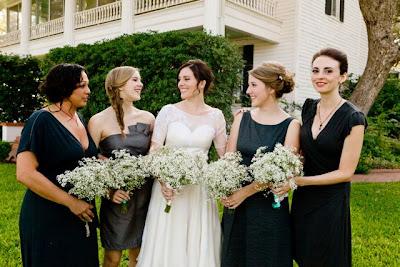 charcoal gray bridesmaids dresses