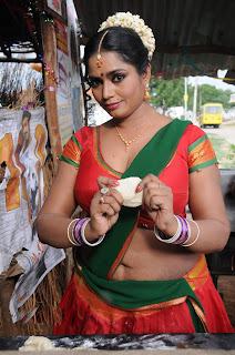 Jayavani Big Cleavage Show In Blouse