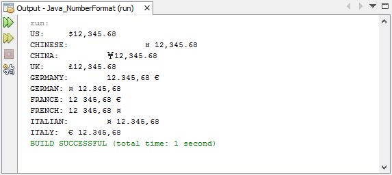 print formatted currency with NumberFormat.getCurrencyInstance()