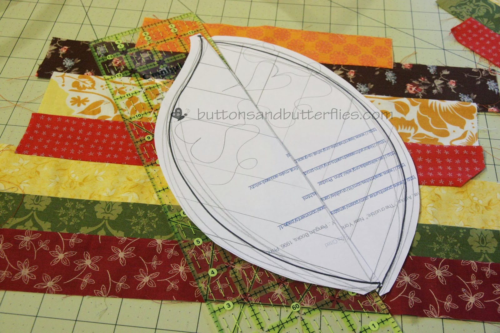 Buttons and Butterflies: Quilted Leaf Potholders {Tutorial} : quilt leaf pattern - Adamdwight.com
