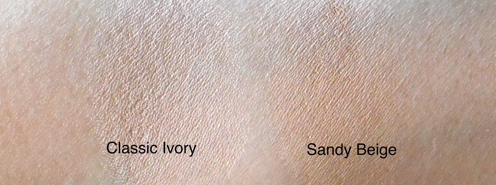 Maybelline Dream Powder review swatch classic ivory sandy beige