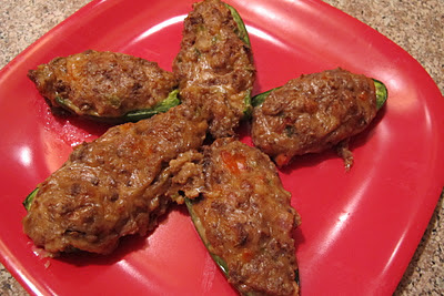 Sausage Stuffed Jalapenos - Regular and Vegetarian Versions