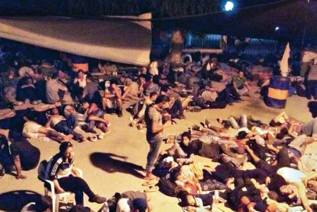 Διαμαρτυρία κατά της δημιουργίας καταυλισμού προσφύγων στο Ψυχιατρείο- Κρατικό Θεραπευτήριο Λέρου