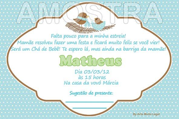 Frases Para Convite De Cha De Fraldas