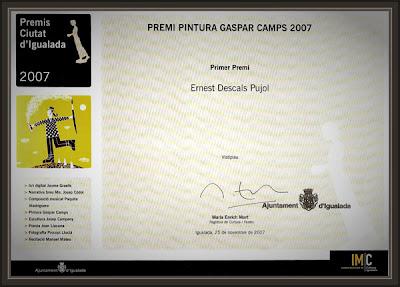 GASPAR CAMPS-PREMI-PINTURA-IGUALADA-PREMIOS-ERNEST DESCALS-
