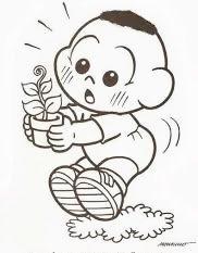 desenho do cascão bebe para pintar
