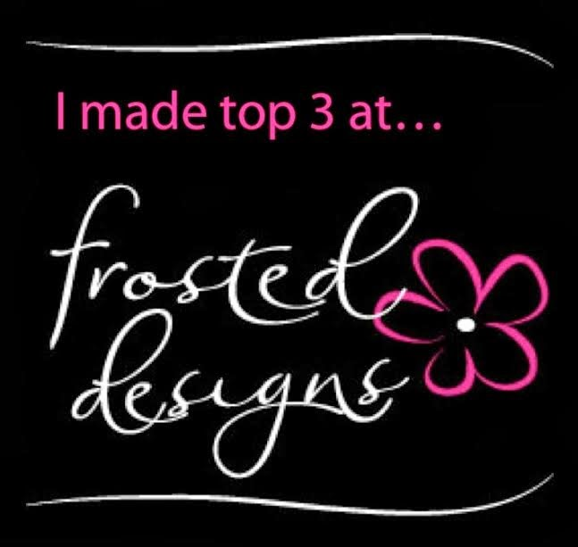 I was top 3 stamping challenge at frosted design/Sept.2014