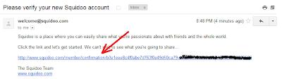 Email Konfimasi Squindoo