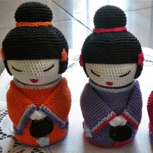 Kokeshi En Amigurumi : Patrones Amigurumi: Munequita Kokeshi