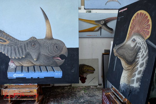Artists Studio, Andrew Sullivan - Dinosaur Paintings