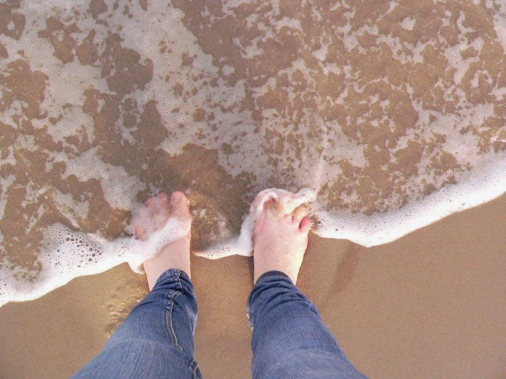 Wochenende Winter Urlaub Insel Meer Strand Sand Barfuss barfuß