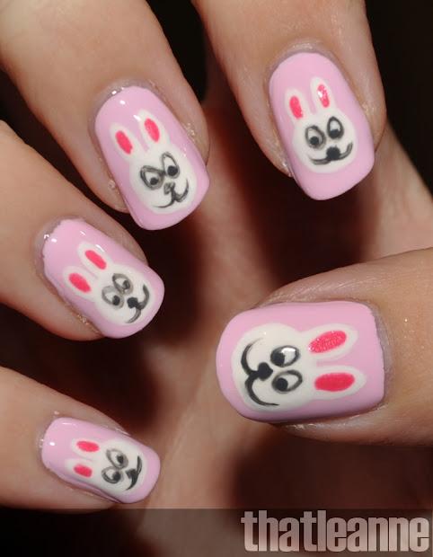 thatleanne easter bunny nail art