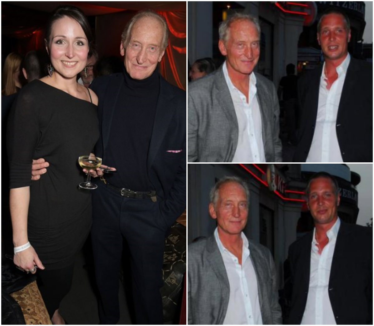 Photo of Charles Dance & his friend