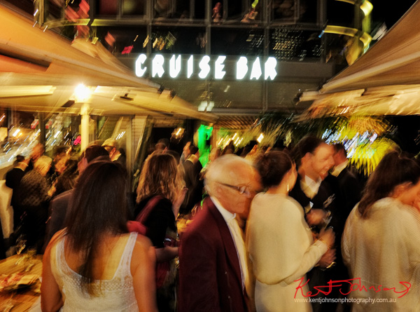 Guests mingling at the Cruise Bar re-launch party. Photography by Kent Johnson - Street Fashion Sydney.